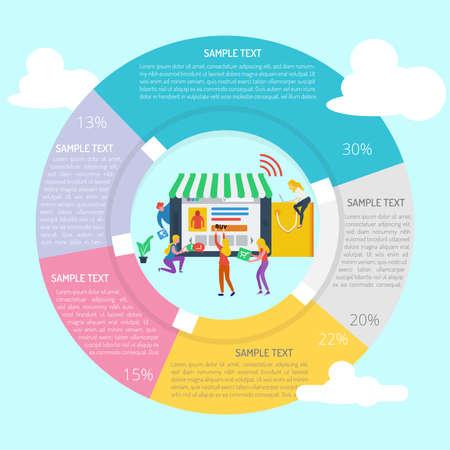 Online Shop Infographic Diagram