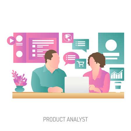 Product Analyst Conceptual Design Vetores