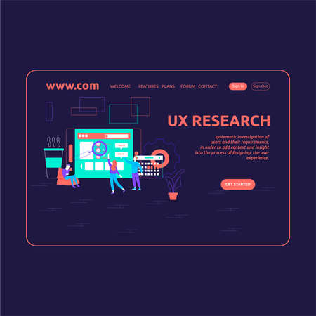 Landing Page Design UX Research