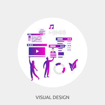 Visual Design Conceptual Design  イラスト・ベクター素材