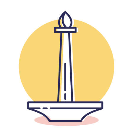 Monas Icon - Travel and Destination with Outline Style