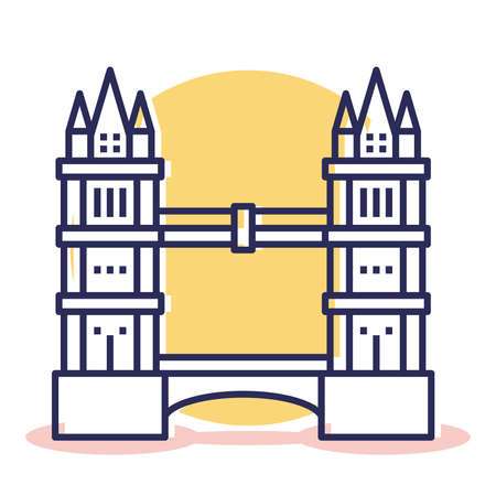Tower Bridge Icon - Travel and Destination with Outline Style