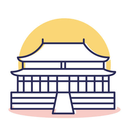 Forbbiden Icon - Travel and Destination with Outline Style Ilustrace