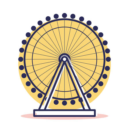 Eye of london Icon - Travel and Destination with Outline Style