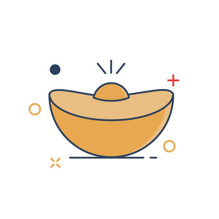 Gold Icon - with Outline Filled Style Иллюстрация