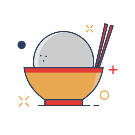 Pig Chinese New Year 2019 Icon | Bakpao Icon - with Outline Filled Style