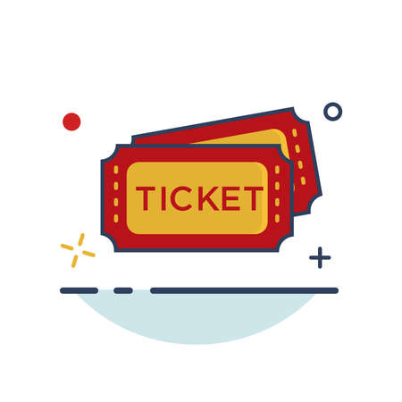 Carnival Icon | Ticket Icon - with Outline Filled Style