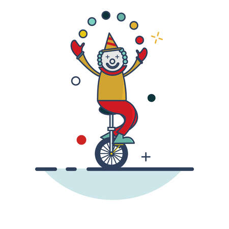 Carnival Icon | Clown Icon - with Outline Filled Style