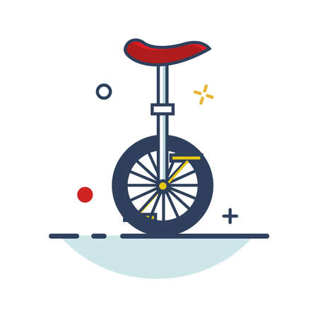 Carnival Icon | Circus Bike Icon - with Outline Filled Style 向量圖像