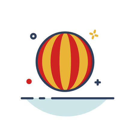 Carnival Icon | Ball Icon - with Outline Filled Style 向量圖像