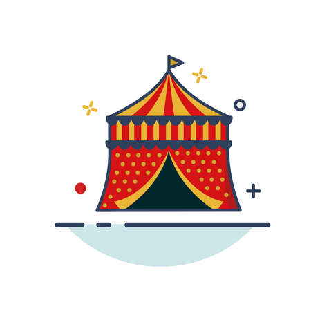 Carnival Icon | Carnival Tent Icon - with Outline Filled Style
