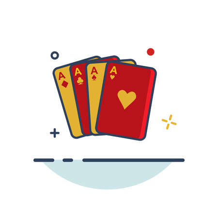 Carnival Icon | Card Magic Icon - with Outline Filled Style