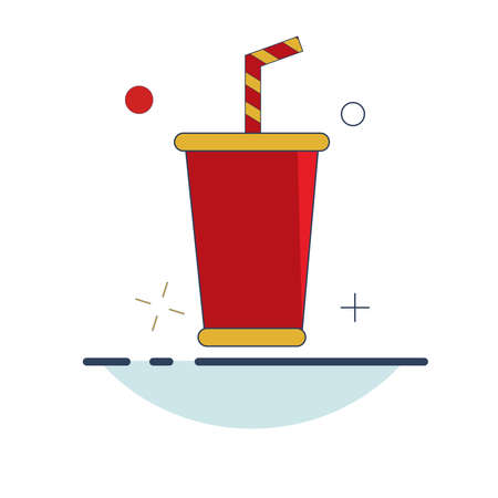 Carnival Icon | Cup Drink Icon - with Outline Filled Style