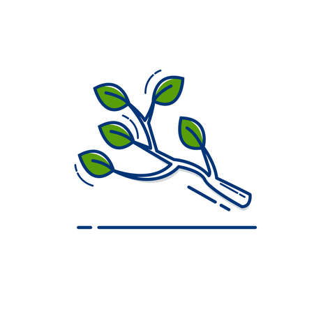 Gardening icon set | Tree Shoots icon - with Outline Filled Style
