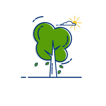 Gardening icon set | Tree icon - with Outline Filled Style