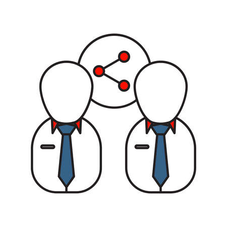 Relationship icon | Business and Finance - with Outline Filled Style