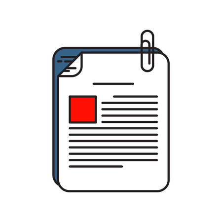 Files icon | Business and Finance - with Outline Filled Style Ilustracja