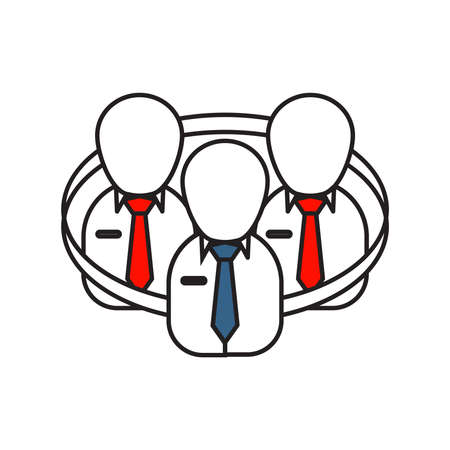 Team Work icon | Business and Finance - with Outline Filled Style Illustration