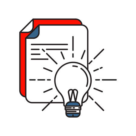 Idea icon | Business and Finance - with Outline Filled Style Ilustrace