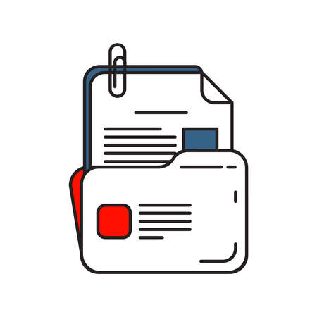 Folder icon | Business and Finance - with Outline Filled Style Ilustracja