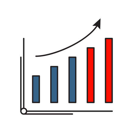 Increase icon | Business and Finance - with Outline Filled Style Ilustração