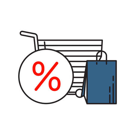 Shopping icon | Business and Finance - with Outline Filled Style