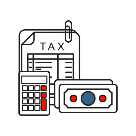 Tax icon | Business and Finance - with Outline Filled Style