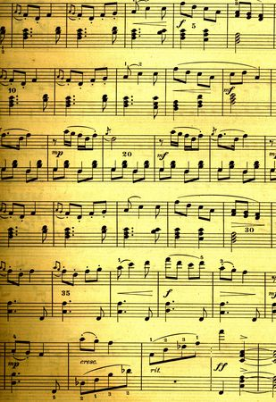 sheet: vintage style design of music notes