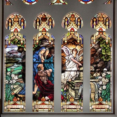 stained glass window from an old church photo