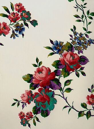 grungey: Vintage antique wallpaper from a very old home