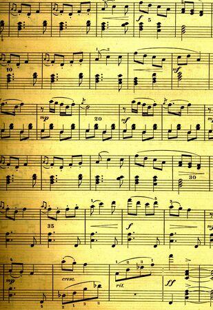 sheet music: sheet music design on a grunge background