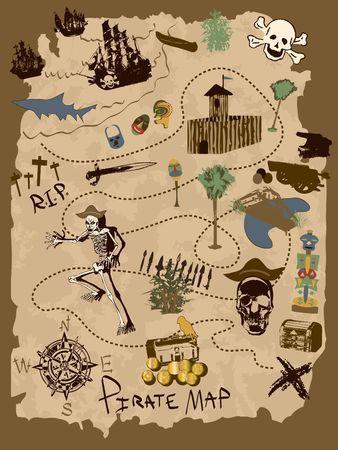 wall maps: Mapa del pirata - Dise�a tu propio uso de estos elementos de diversi�n