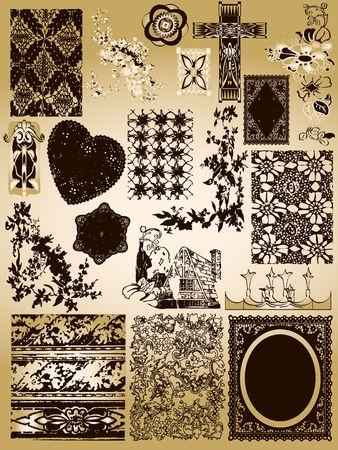 Ornate Vintage Elements Stock Photo