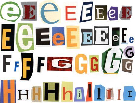 ransom: e - i Alphabet, ransom style