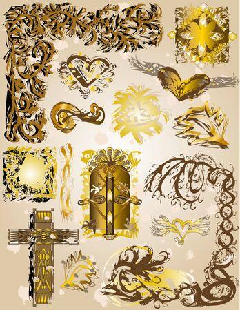 Vintage style design elements illustration Stock Illustration - 3354239