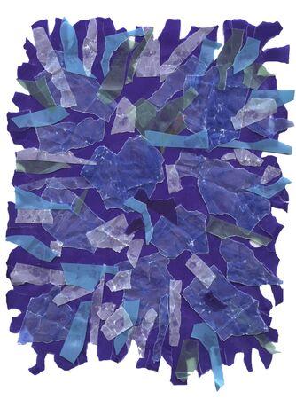 antiqued: blue paper design
