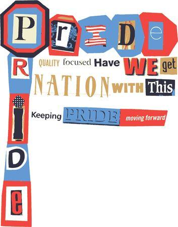 national pride: word collage - national pride
