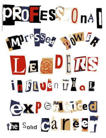 word collage - professional  photo