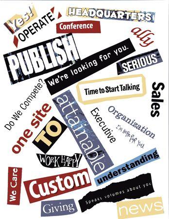 publishing: word collage - publishing Stock Photo