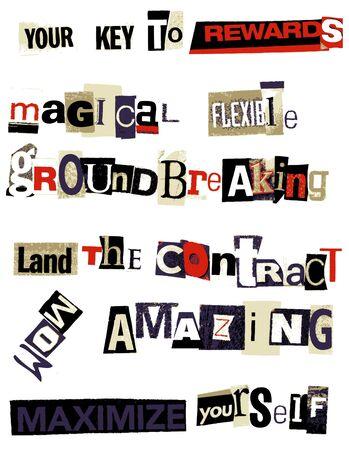 word: word collage - rewards