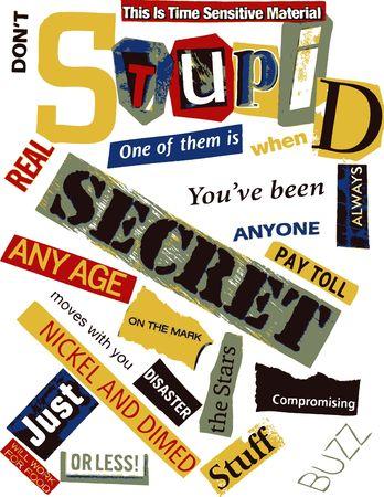 stupid: Word Collage - Stupid Stock Photo
