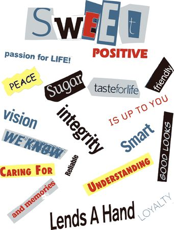 Word Collage - Sweet photo