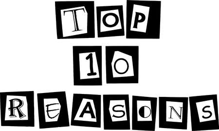 reasons: top 10 reasons banner