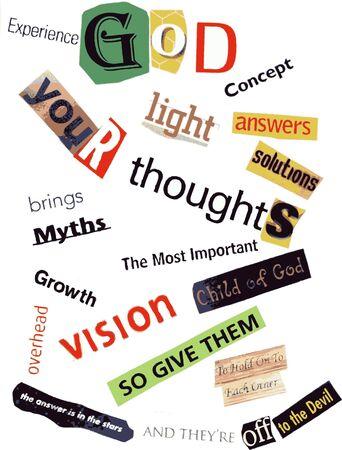 religious word collage Stock Photo - 3394745