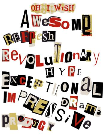 ransom: awesome word collage
