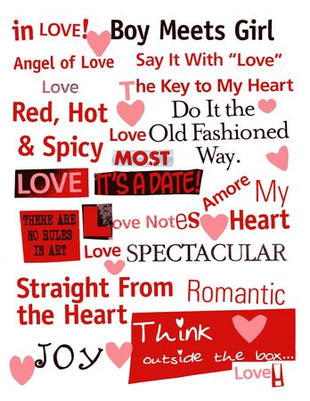 word: love word collage Stock Photo
