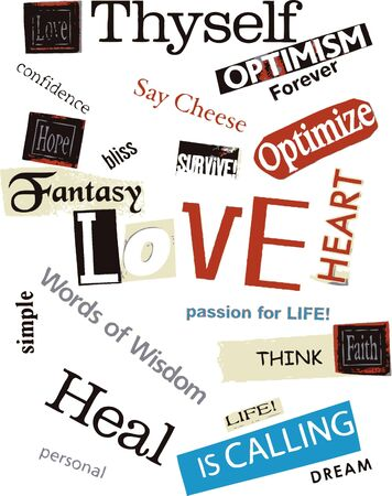 word collage photo