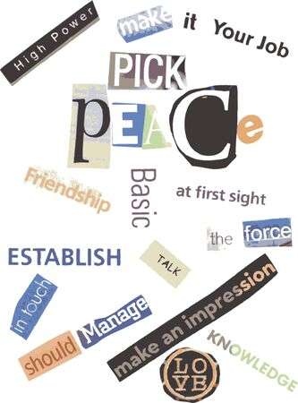 Word Collage - Peace photo