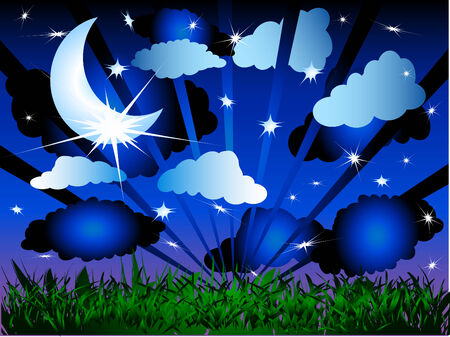 starry night: Beautiful starry night Illustration