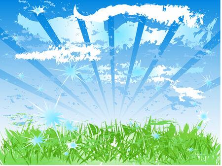 Vector Sunny Day Stock Vector - 3420561